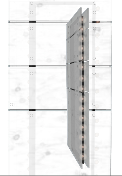 Retail design, facade design, branded facade, store front, design, soffit, black & white, foot traffic, circulation pattern, negative space, visualization, merchandising, shelving unit, display design,